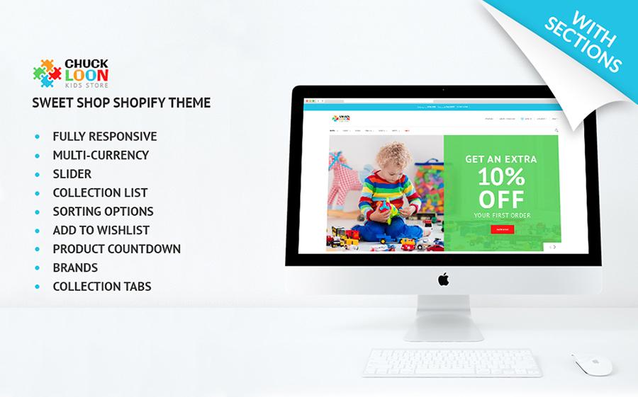 Chuck Loon - Thème Shopify adaptatif pour boutique de jouets et de vêtements pour enfants