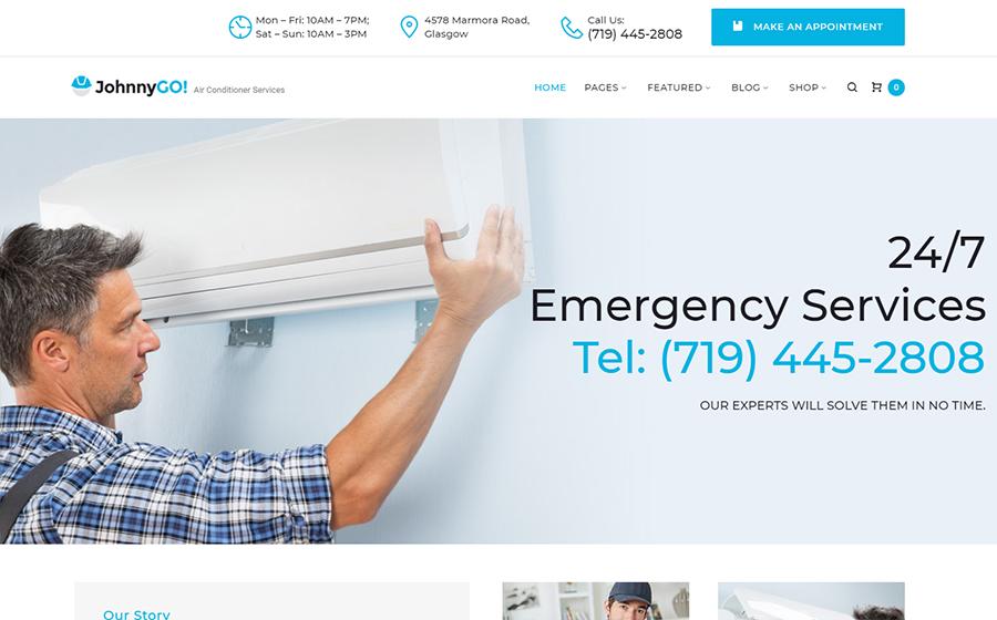 JohnnyGo - Thème WordPress pour services à domicile