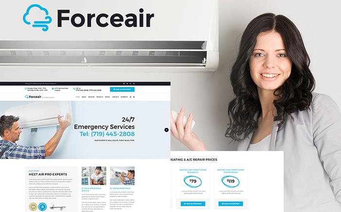 Forceair - Thème WordPress pour Services de climatisation