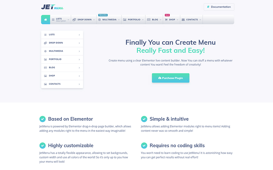 JetMenu - Mega Menu pour Elementor Page Builder WordPress Plugin