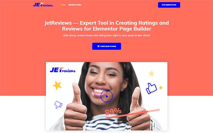 JetReviews - Widget de commentaires pour Elementor Page Builder WordPress Plugin