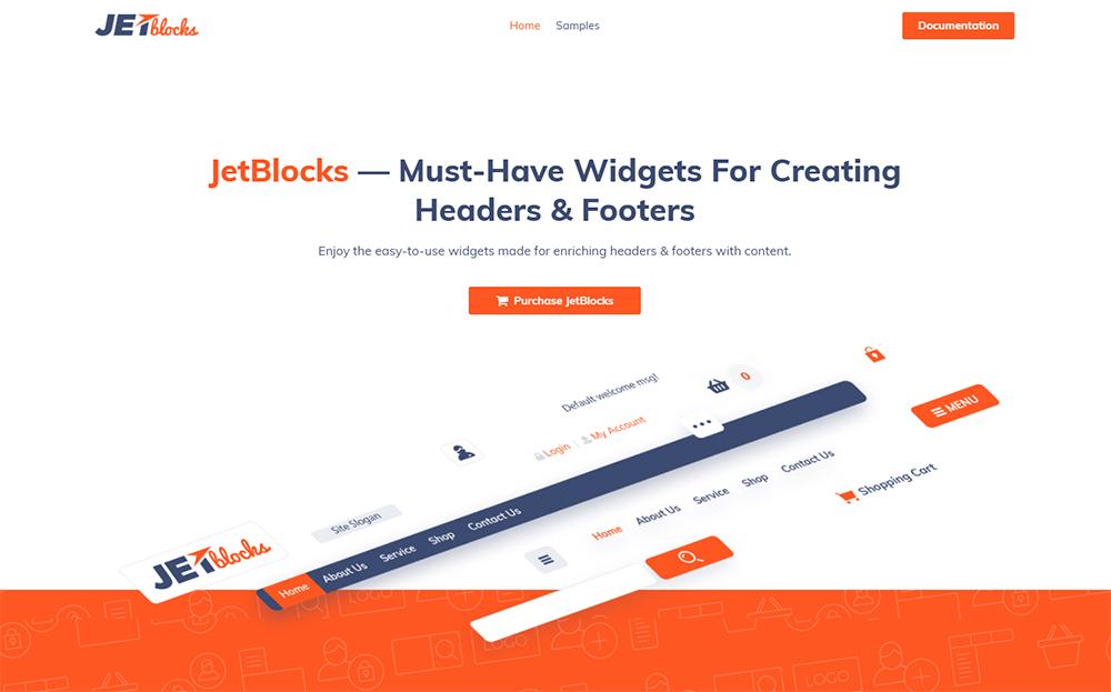 JetBlocks - Plugin WordPress Elementor avec widgets d'en-tête et de pied de page