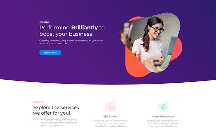 Marketz - Modèle Pro Elementor pour Agence numérique
