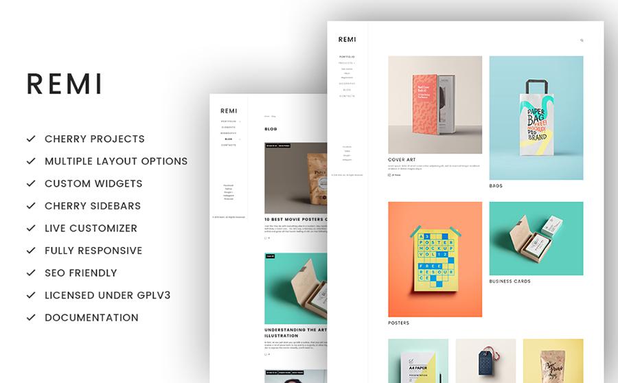 Thème WordPress flexible pour portfolio artistique