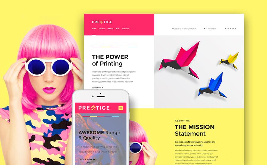 Thème WordPress flexible pour sites de services d'impression