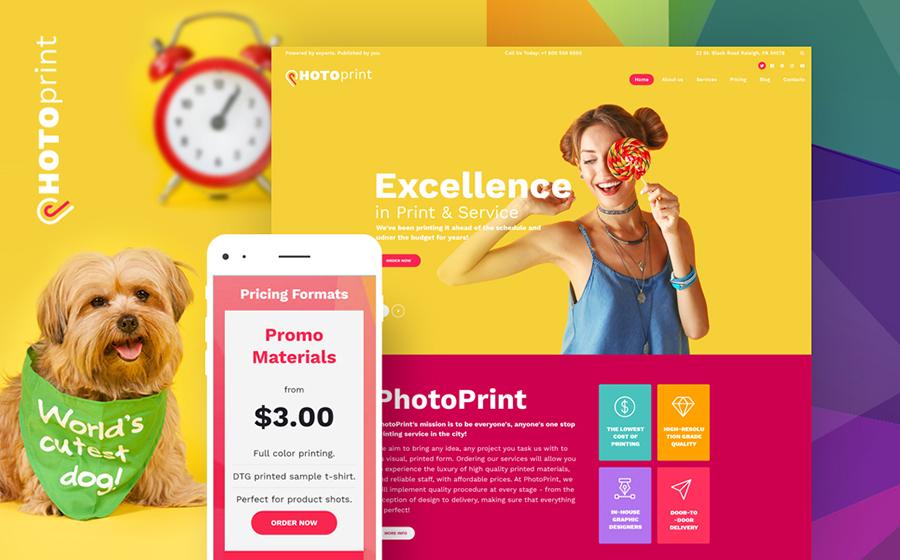 Thème WordPress flexible pour magasins de services d'impression