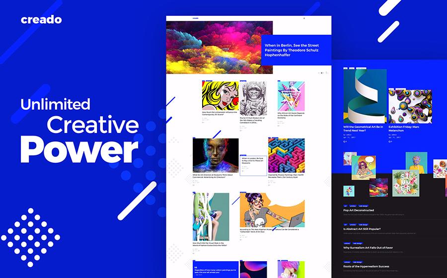 Thème WordPress flexible pour galeries d'art