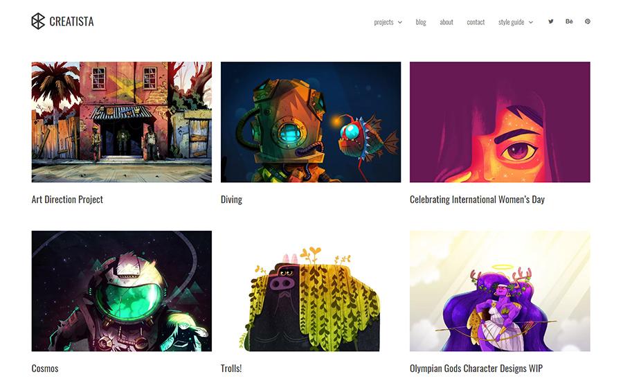 Thème WordPress pour sites de galeries d'art