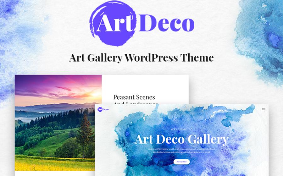 Thème WordPress pour les sites de galeries d'art