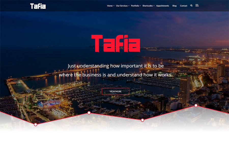 Tafia - Creative Business WordPress Theme