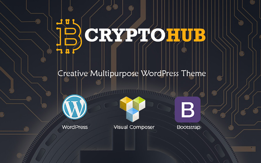 CryptoHub - Cryptocurrency thème WordPress adaptatif