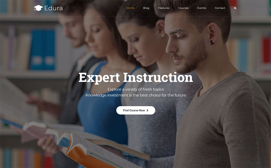 Edura - LearnPress Education thème WordPress adaptatif