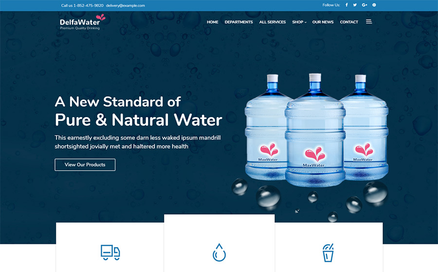 Delfa - Water Delivery thème WordPress