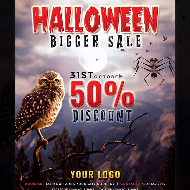 Halloween Bigger Sale Flyer Template