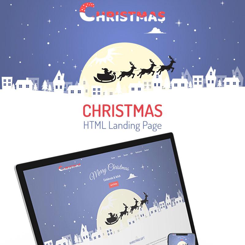 Kristmas - Christmas modèle de page d'atterrissage