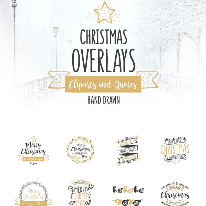Christmas Overlays - Vector Set illustration