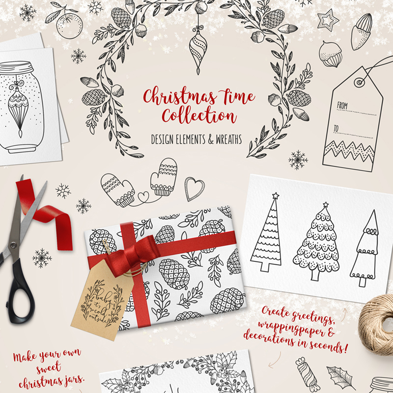 Christmas Time Collection illustration