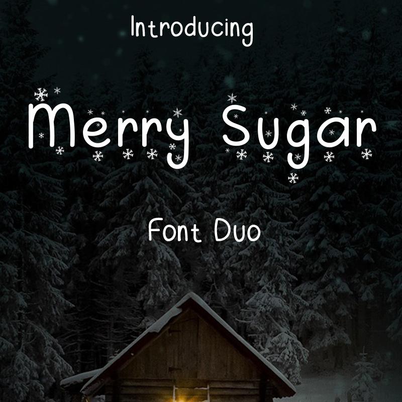 Merry Sugar police de caractère