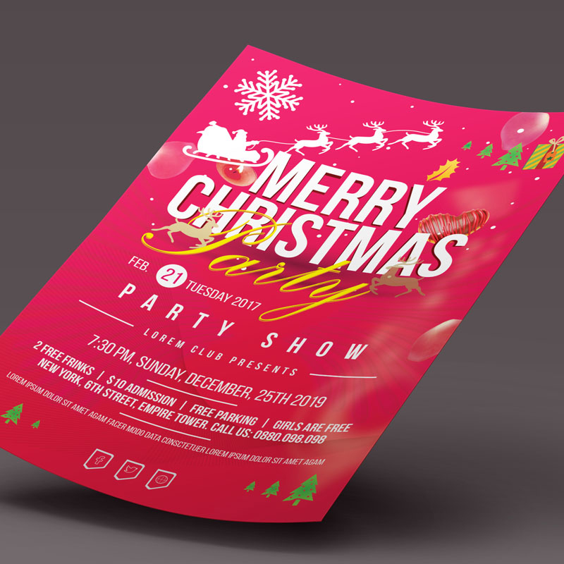Christmas Party Flyer design d'Entreprise