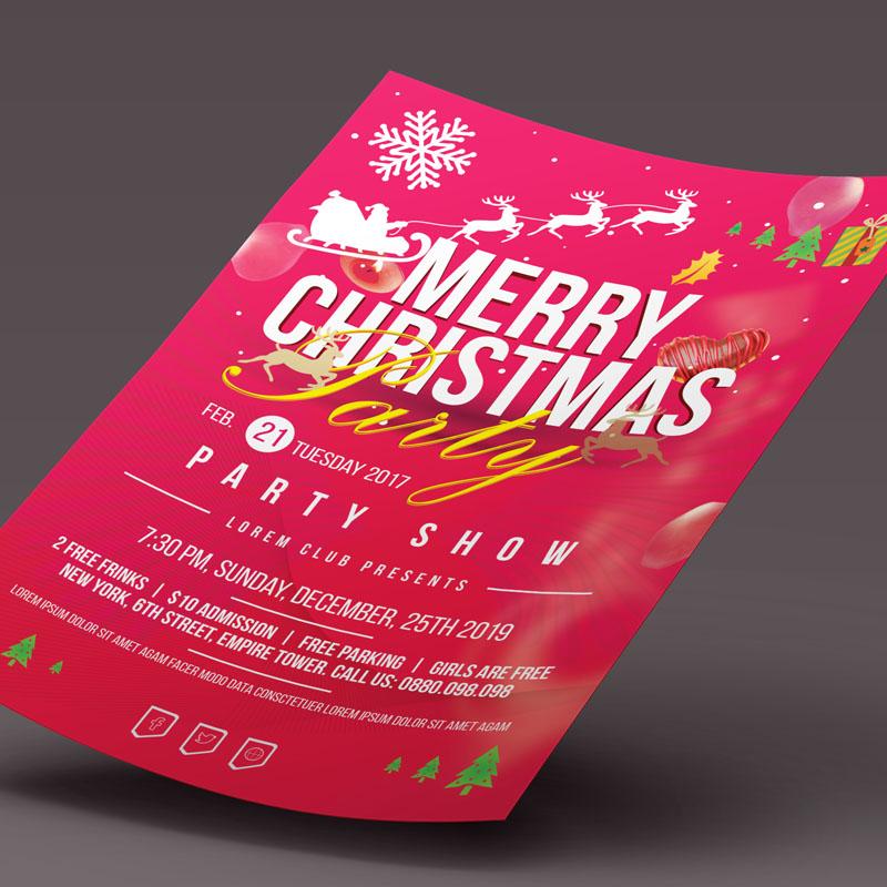 Christmas Party Flyer design d'Entreprise