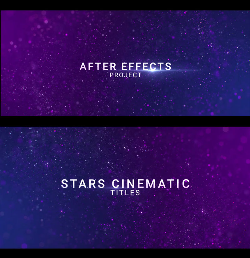 Stars Cinematic Titles after Effects Intro