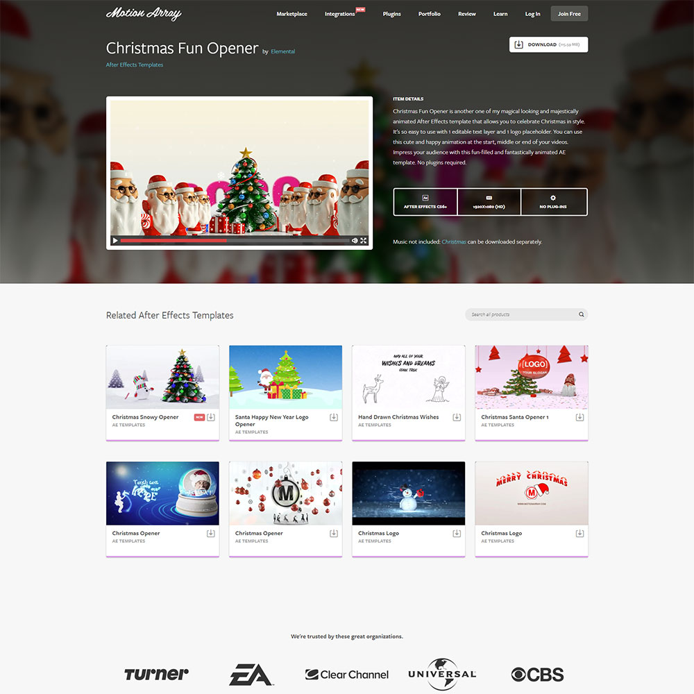 Christmas Fun Opener After Effects Templates